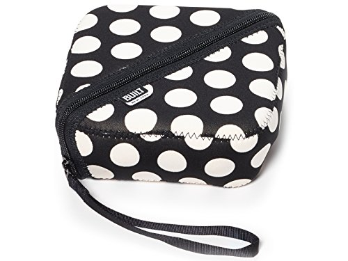 BUILT NY Bento Sandwich Container with Neoprene Sleeve, Big Dot Black and White (Carrier Sandwich)