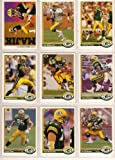 Green Bay Packers 1991 Upper Deck Football Master Team Set with High Numbers***Premier Issue*** (Dan Majkowski) (Tony Mandarich) (Sterling Sharpe) (Val Silahema) (Chris Jacke) (Tim Harris) (Chuck Webb Rookie) (Johnny Holland) (Perry Kemp) (Anthony Dilwig) (Bryce Paup)
