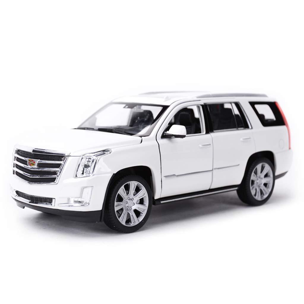 QRFDIAN Ursprüngliches 1:24 Cadillac 2017 Escalade SUV-Simulationslegierungsautomodell (Farbe : Weiß)