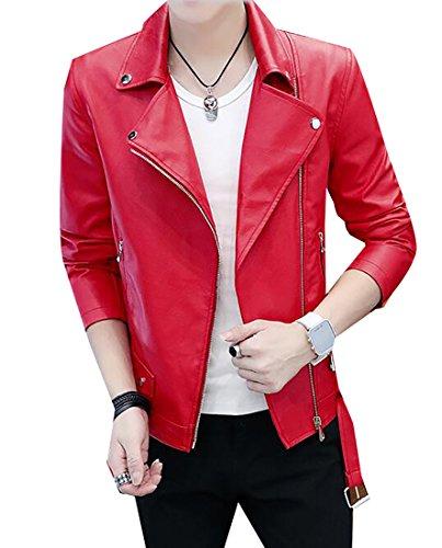 Red Motorcycle Jacket Men - 4
