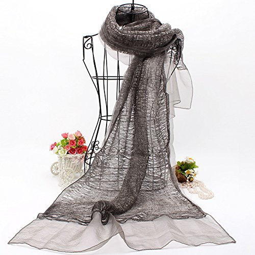 Dark brown SED ScarfDouble Fold Silk Scarves Shawls Scarf AllMatch Female Spring and Winter Long Imitation Cashmere Scarf Female Autumn and Winter Korean Students Knitted Shawl Long