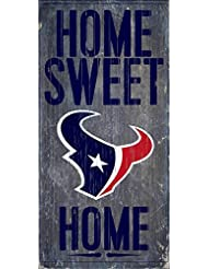 Houston Texans Official NFL 14.5 inch x 9.5 inch Wood Sign Ho...