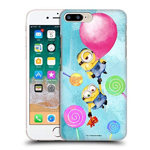 Official Despicable Me Bob and Stuart Bubble Watercolour Minions Hard Back Case Compatible for iPhone 7 Plus/iPhone 8 Plus]()