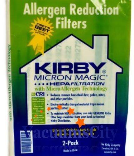Kirby Santria Upright Style F Hepa Micron Magic Bags 2 Pk Pa