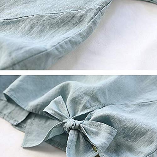 Femme lgant Beikoard amp;Automne Archet Tops de Sexy Vert avec Tuniques Chemise Coton Haut Blouse Lin Lache Chic Femme Blouse Hiver 6Y5FwqFf