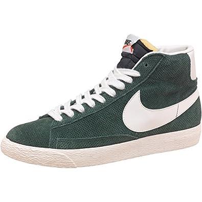 nike herren blazer mid premium vintage sneakers dunkelgrün/naturweiß