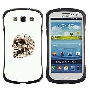"""Pulsar iFace Series Tpu silicona Carcasa Funda Case para SAMSUNG Galaxy S3 III / i9300 / i747 , Poker Tarjetas Cráneo de juego de Las Vegas"""""""