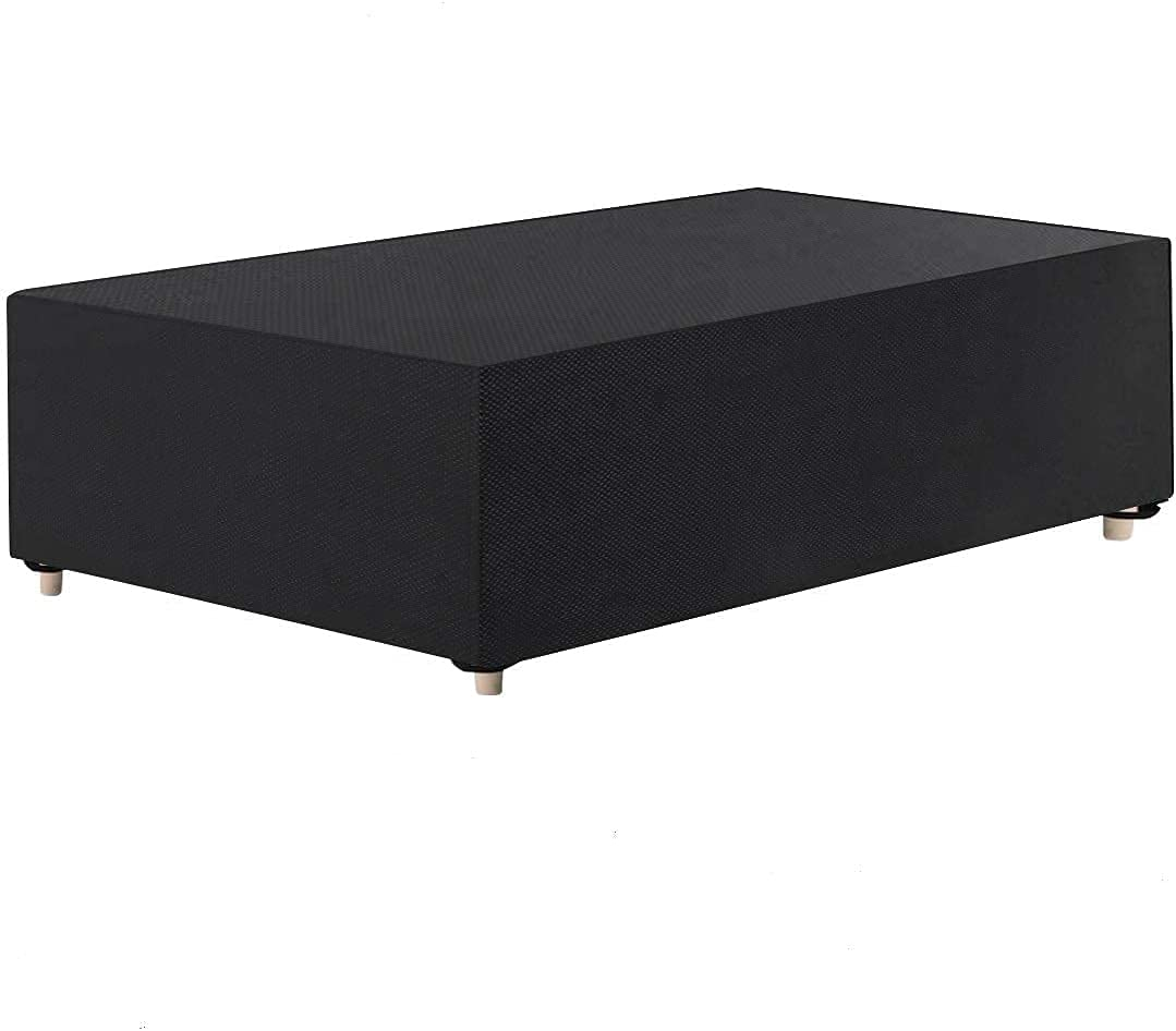 Tvird Funda para Muebles de Jardín,Copertura Impermeable para Mesas Rectangular,Cubierta de Exterior Funda Protectora Muebles Mesas Sillas Sofás Exterior 420D Oxford (325 * 180 * 71CM) -Negro