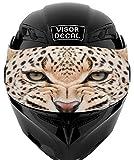 V13 Cheetah Leopard VISOR TINT DECAL Graphic Sticker Helmet Fits: Icon...