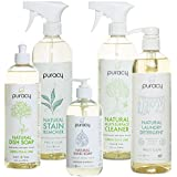 Puracy Organic Home Care Set (5-Pack), Natural Household Cleaners & Soaps, Nontoxic Housewarming Gift