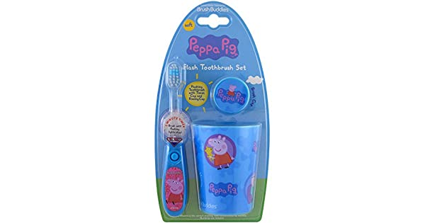 Amazon.com: Brush Buddies, Peppa Pig, Flash Kit de cepillo ...