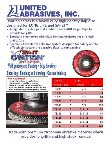 United Abrasives- SAIT 78029 Ovation Flap Disc, 5-Inch by 7/8-Inch, 80 Grit, 10-Pack by United Abrasives- SAIT (Image #1)