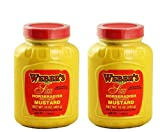 Weber`s Premium Horseradish Prepared Mustard (2) 16 Oz. Containers