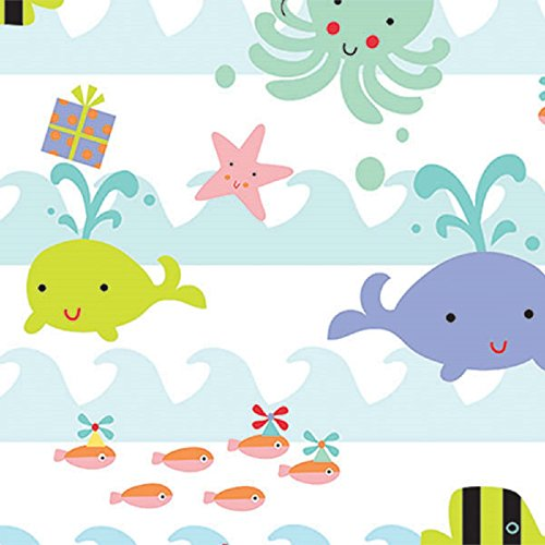 Ocean Sea Babies Birthday Baby Gift Wrapping Paper Flat Sheet - 24