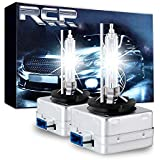 RCP D8S 6000K A Pair Xenon HID Replacement Bulb Diamond White Metal Stent Base 12V Car Headlight Lamps Head Lights 25W