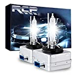 : RCP D8S 6000K A Pair Xenon HID Replacement Bulb Diamond White Metal Stent Base 12V Car Headlight Lamps Head Lights 25W