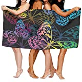 Haixia Quick Drying Bath Towel The Colorful Butterflies Flutter and Dance