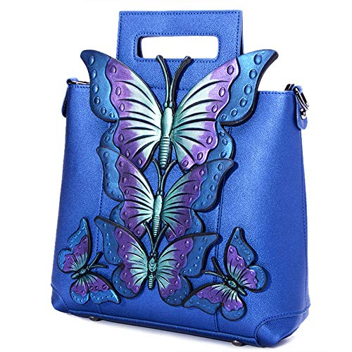 en Butterfly Shoulder Female Wind 2018 azul Real Bag National Bag Handbag Hlh Painted Embroidery Big No Lady ZTwqxY