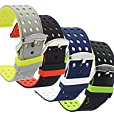 4-Pack Samsung Gear S3 Bands - Silicone
