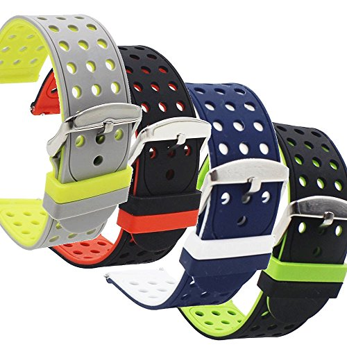 4-Pack Samsung Gear S3 Bands - Silicone by SILICONE ALLEY