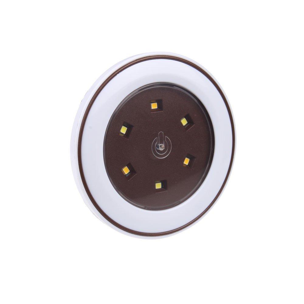 STARRYOL Luces LED toque la luz, Luz de noche alimentada por baterías para armarios, áticos, garajes, coche, cobertizos, sala de almacenamiento - luz blanca ...