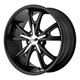 22x11 American Racing Daytona (Satin Black / Machined) Wheels/Rims 5x120 (VN80122149738)