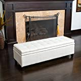 Sandford Fabric Upholstered Storage Ottoman Bench