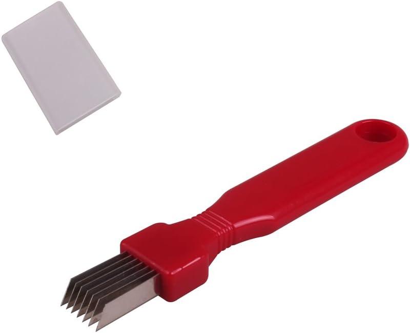 Scallion Cutter Shred Knife Vegetable Cutter Stainless Steel Blade Slice Cutlery Sharp Easy Quick Kitchen Tool scallion slicer shredder 1 Pack/Set