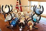 horseshoe wine holder - Horseshoe Wine Rack Holds 7 Bottles and 4 Glasses.