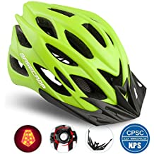 Basecamp Specialized Bike Helmet with Safety Light, CPSC Certified, Adjustable Sport Cycling Helmet Bicycle Helmets for Road & Mountain for Men & Women, Safety Protection