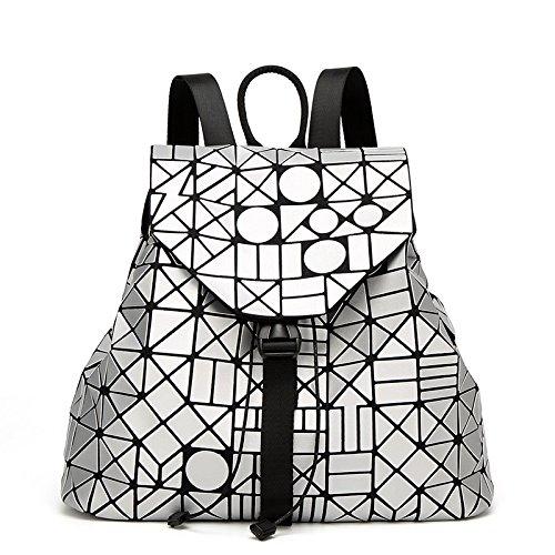 à Main Cartable Sac Sac Mat Irrégulier Cube Dos Sac Couture Mat Dos Silver Lady à à Rubik's tEA1xdqtw