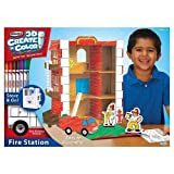 RoseArt 3D Create 'n Color Fire Station