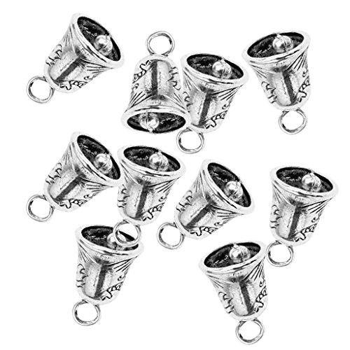 - Prettyia 10pcs Tibetan Silver Mini Liberty Bell/Small Bells for DIY Bracelet Anklets Necklace Knitting/Jewelry Making/Keychain Findings