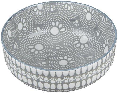 ORE Pet Speckle & Spot Ceramic Deep Bowl - Santa Fe Gray - 2 cups by ORE Pet