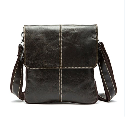 Womens High Quality Genuine Leather Leisure Top-Handle Bags (Black) - 9