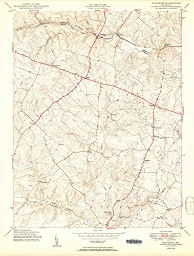 MD topo map, 1:24000 Scale, 7.5 X 7.5 Minute, Historical, 1950, 27 x 20.4 in - Paper ()