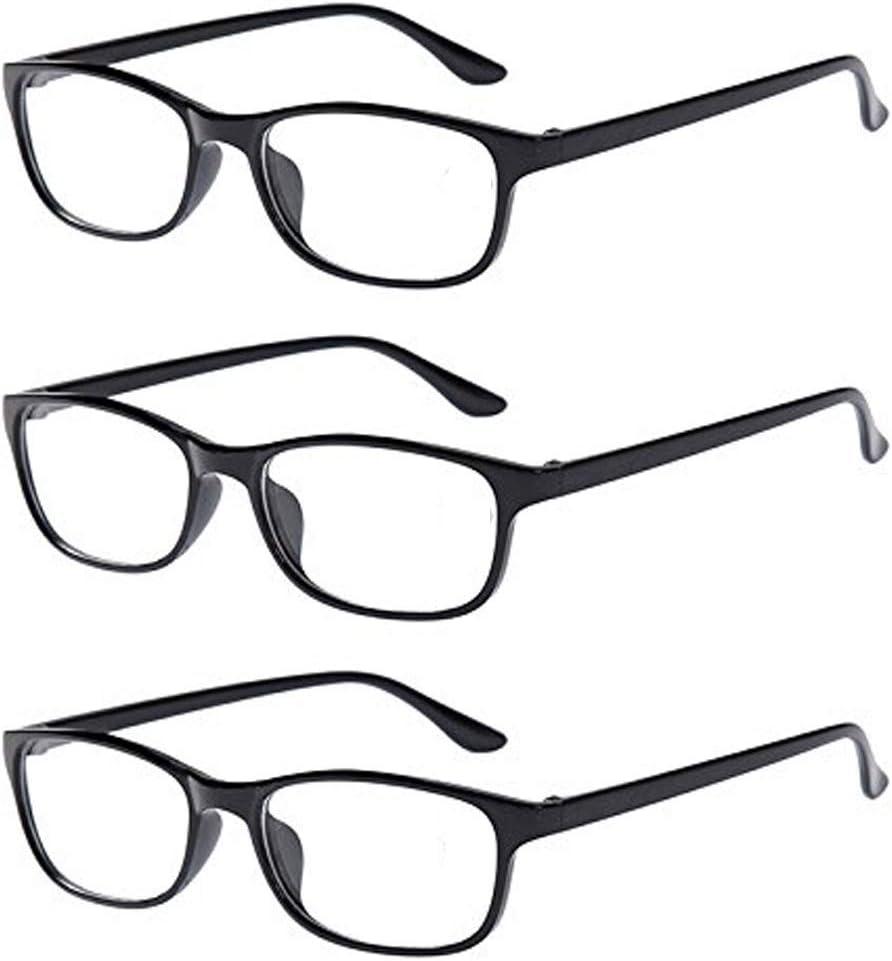 3pares negro Classic Bifocal gafas de lectura para hombre uso diario lectores gafas oficina casa gafas + 1.0A + 4.0