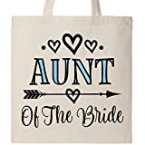 Inktastic - Aunt Of The Bride Wedding Party Tote Bag Natural 2dd8c