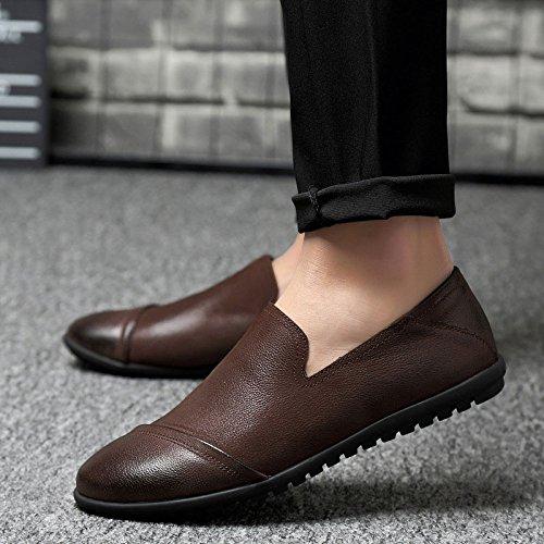 Moda Tutti Fagioli I Scarpe Casual Brown da di Scarpe Giorni Cuoio Uomini pqI8w