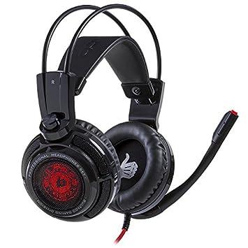 Bultaco Technology Lobito GT 301 Binaurale Diadema Negro, Rojo Auricular con micrófono - Auriculares con