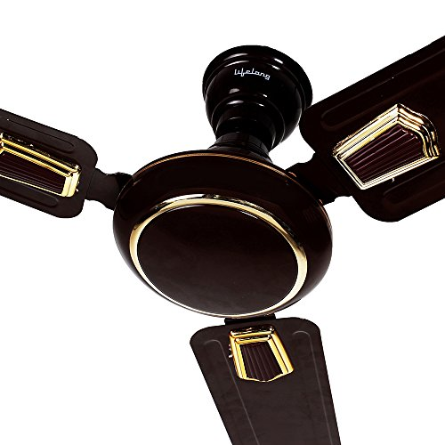 Lifelong Premium Copper 48-inch 75-Watt Ceiling Fan – Brown