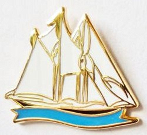Schooner Sailing Boat Enamel and Metal Pin - Race Schooner