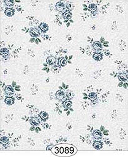 Dollhouse Miniature 1:12 Scale Wallpaper Rose Hill Floral Blue