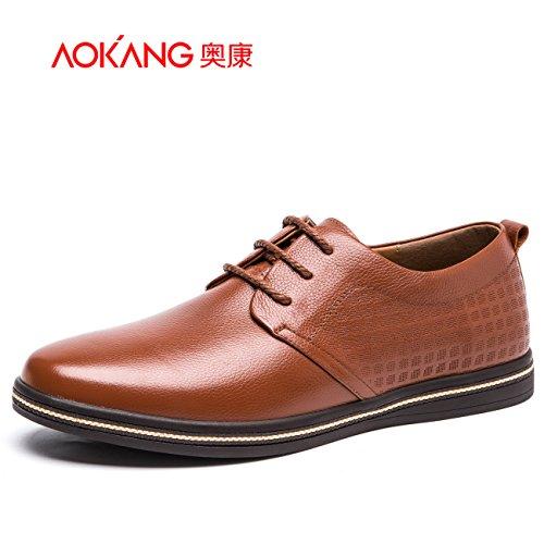 Aemember scarpe da uomo Business Casual Uomo Scarpe comode griglia e versatile di scarpe da lavoro ,38, marrone