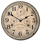 Bundy Wall Clock, Available in 8 sizes, Whisper Quiet, non-ticking offers