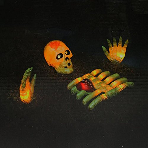 Napolean Blownapart Skeleton with Beating Heart Halloween Yard Art (Beating Heart)