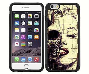 Half Marilyn Monroe/Half Skeleton RUBBER Snap on Phone Case (iPhone 6)