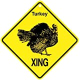 Turkey Xing caution Crossing Sign wildlife Gift