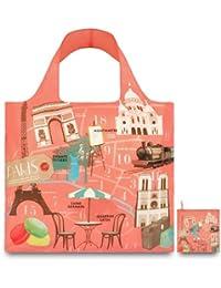 LOQI Reusable Tote Bag, Paris Print, Multi, United States Carry-On