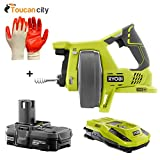 Ryobi 18-Volt ONE+ Drain Auger + 18-Volt ONE+ Lithium-Ion Battery and IntelliPort Charger Upgrade Kit P4001-P128 and Toucan City Nitrile Dip Gloves(5-Pack)